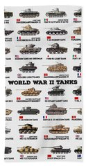 World War II Tanks Beach Towel