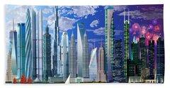 Worlds Tallest Buildings Beach Towel