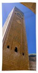 Beach Sheet featuring the photograph Worlds Tallest Minaret At 210m Hassan II Mosque Grand Mosque Sour Jdid Casablanca Morocco by Ralph A  Ledergerber-Photography