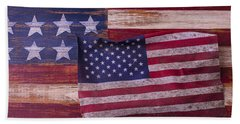 Worn American Flag Beach Towel