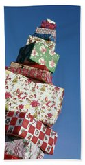 Wrapped Christmas Present Stacked Beach Towel