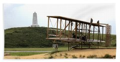 Wright Brothers Memorial At Kitty Hawk Beach Towel