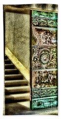 Wrigley's Tower Bronze Doors By Diana Sainz Beach Sheet