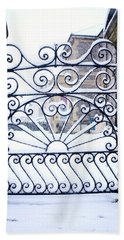 Wrought Iron Snow Beach Towel