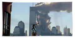 Wtc Attacks September 11, 2001 Beach Towel
