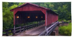 Wv Covered Bridge Beach Towel