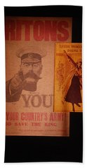 Ww1 Recruitment Posters Beach Towel
