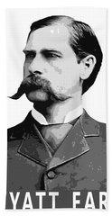 Wyatt Earp Legend Of The Old West Beach Towel