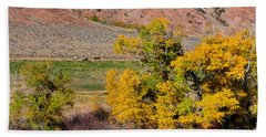 Wyoming Horse Country Beach Towel