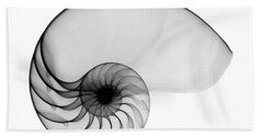 X-ray Of Nautilus Beach Towel