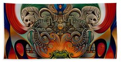 Xiuhcoatl The Fire Serpent Beach Towel