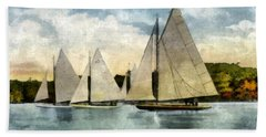 Yachting In Saugatuck Beach Towel