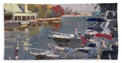 Yachts In Port Credit  Beach Towel