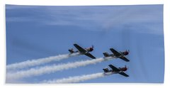 Yak 52 Tw By Three Beach Towel by CJ Schmit