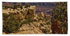 Beach Towel featuring the photograph Yaki Point 3 The Grand Canyon by Bob and Nadine Johnston