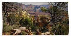 Beach Towel featuring the photograph Yaki Point 4 The Grand Canyon by Bob and Nadine Johnston