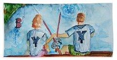 Yankee Fans Day Off Beach Towel