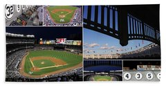 Yankee Stadium Collage Beach Towel