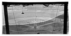 Yankee Stadium Grandstand View Beach Towel