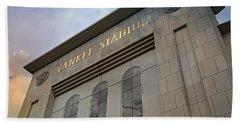 Yankee Stadium Beach Towel by Stephen Stookey