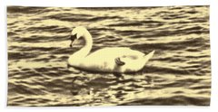 Beach Towel featuring the photograph Ye Olde Swan by Shawn Dall