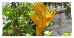 Yellow Bird Of Paradise Beach Sheet