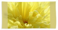 Yellow Dahlia Burst Beach Towel
