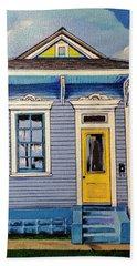 Yellow Door Shotgun  Beach Towel