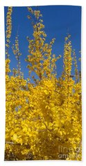 Yellow Explosion Beach Towel