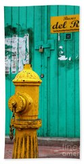 Yellow Fire Hydrant Beach Sheet