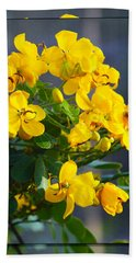 Beach Sheet featuring the photograph Yellow Flowers by Chris Thomas