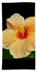 Beach Sheet featuring the painting Yellow Hibiscus by Rand Herron