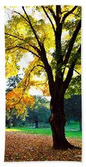 Yellow Highlights Beach Towel