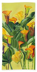 Yellow Lilies Beach Sheet