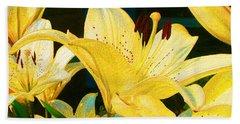 Yellow Lilies Beach Sheet