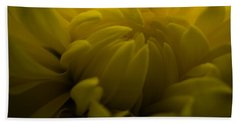Yellow Mum Beach Towel