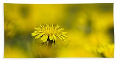 Yellow On Yellow Dandelion Beach Towel