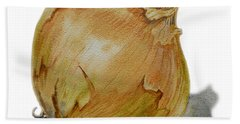 Yellow Onion Beach Sheet by Irina Sztukowski