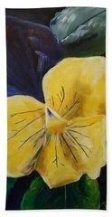 Yellow Pansy Beach Towel