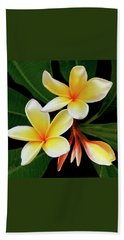 Yellow Plumeria Beach Towel