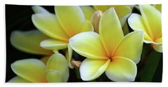 Yellow Plumeria Cascade Beach Towel