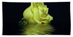 Yellow Rose II Beach Towel by Sandy Keeton