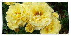 Yellow Rose Of Pa Beach Towel by Michael Porchik