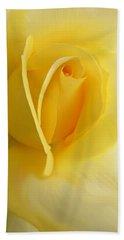 Yellow Rose Portrait Beach Sheet