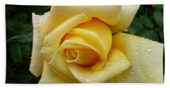 Yellow Rose Say Goodbye Beach Sheet