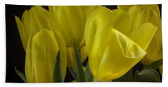 Beach Towel featuring the photograph Yellow Silk by Lucinda Walter