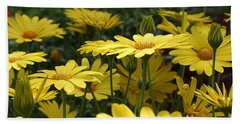 Yellow Splendor Beach Towel