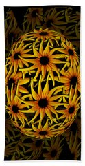 Yellow Sunflower Seed Beach Towel