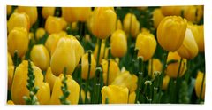Yellow Tulip Sea Beach Towel
