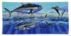 Yellowfin Bust Off0083 Beach Towel